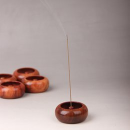 Wholesale Art Seat - Incense Burner Hand Made Unique Rosewood Bowl Shape Living Room Home Fragrance Lamps Seat Art Craft 9at F R