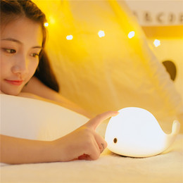 Wholesale Table Lamps For Children - Desk Night Light Baby Room Whale Cartoon Night Light Kids Bed Table Lamp Sleeping Lamps for Children adults room Christmas Gift