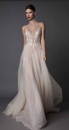 Wholesale Dress Short Sequins Open Back - sexy blush evening dresses 2017 muse berta bridal spagetti deep sweetheart heavily embellished bodice tulle skirt open low back