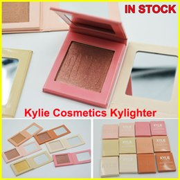 Wholesale Cotton Candy Makeup - Kylie Cosmetics Kylighter French Vanilla Cotton Candy & Salted Carmel Highlighter Glow Face Makeup 6 color Bronzers & Highlighters FREE DHL