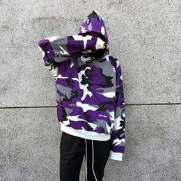 Wholesale Usa Hoodies - 2018 NEW fashion autumn winter men's camouflage Pullover Hoodies HIP HOP usa Fashion Casual camouflage Sweatshirts 4 color M-XL