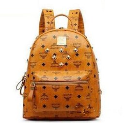 Wholesale black leather backpack for men - 2016 Vintage Women Backpack Pu Leather School Bag For Teenagers Punk Rivet Female Travel Bags Black Bolsos Mujer