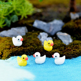 Wholesale Mini Plastic Fish Tanks - Best selling Mini yellow duck Moss micro -landscape ornaments Multi-meat jewelry Decoration Resin Crafts Creative Decoration Fish tank furni