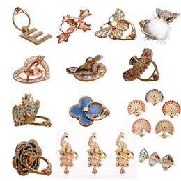 Wholesale Metal Hook Stands - Rotating 360 Finger Grip Metal Bling Rhinestone Luxury Ring Lady Holder Cute Hook Stand For Tablet Moblie phone