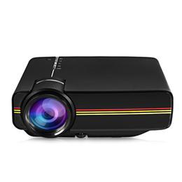 Wholesale mhl vga - DHLfreeshipping Newest YG400 Multimedia Portable Mini LED Projector 1000 Lumens home theater PC USB HDMI AV VGA SD for Home Cinema Projector
