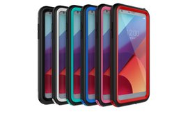 Wholesale Lg Shockproof Waterproof Phone - For LG G6 Red Pepper IP68 Waterproof Snowproof Dropproof Dirtproof Shockproof cell phone Cases Multi-Level Protection Case 20pcs