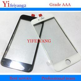 Réparation de lunette iphone en Ligne-10pcs presse à froid AAA qualité verre avant + cadre pour iPhone 6 6s 7 plus 5 5c 5s verre externe avec cadre lunette lcd réparation partie