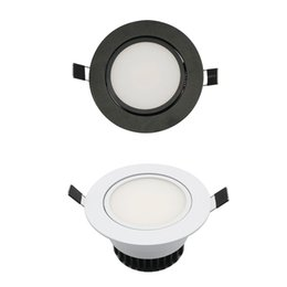 Wholesale Cob Downlight Ac85 - LED COB Downlight AC85-265V 9W Recessed LED Spot Light Lumination Indoor Decoration Ceiling Lamp Black Silver