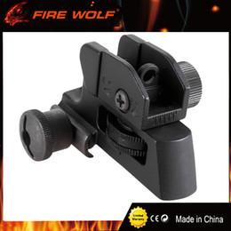 vue arrière tactique Promotion Vue arrière du fer amovible tactique FIRE WOLF avec ajustement complet en dérive / en élévation