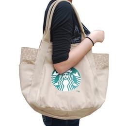 Handtaschen für japan online-2017 Hot Starbucks frauen handtasche Japan modemarke Leinwand einkaufstasche Hohe qualität schultertasche 4 farben