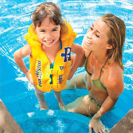 Wholesale Wholesale Boys Items - children pool swimming vest kids life jacket child save suit boys and girls cute cartoon inflatable swim vest brand top quality