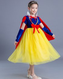 Wholesale Christmas Glove Styles - Kids Girls Clothing Halloween Cosplay Snow White Tutu Dress and Cloak Glove Fall Winter Children Clothing