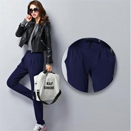 Wholesale Womens Size Capris - 2017 Plus Size 6XL Clothing Winter Women Casual Sweatpants Candy Colors Velvet Warm Womens Trousers Mid Waist Super Elastic Pants