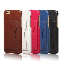 Wholesale Iphone Vibe Case - Luxury Wallet Cell Phone Back Cover Cases for iPhone 6s Plus Samsung S6 S7 Edge Note 5 Note7 Moto G4 Plus Lenovo Vibe P1m