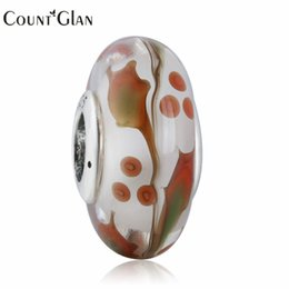 Wholesale Berry Bracelet - 2016 Christmas Holly Berry Leaf Multicolor Murano Charm Beads 925 Sterling Silver Xmas Gift Glass Bead Fits European Bracelets