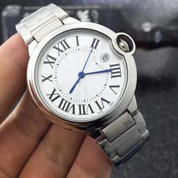 Wholesale Luxury Watch Couples - Ballon Bleu Luxury Brand Lovers Couple Watches Men Date Day Waterproof Women Stainless Steel Quartz Wristwatch Montre Homme Relogio Feminino