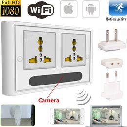 Wholesale Spy Wall Socket - Mini 1080P WIFI HD SPY DVR Hidden IP Camera Real Wall Socket Video Recorder Cam