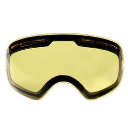 Wholesale Blue Tinted Lenses - Wholesale- Hot!!brand double brightening lens for ski goggles Night of Model Number GOG-201 weak Light tint Weather Cloudy Drop Shipping