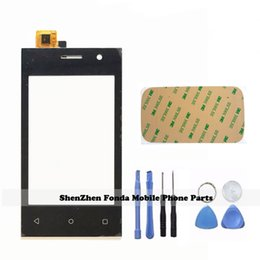 Wholesale Smartphone Replacement Glass Screens - Wholesale- 4.0'' Touchscreen Front Glass Sensor For Highscreen Pure J Touch Screen Panel Digitizer SmartPhone + Tools Replacement