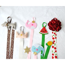 Wholesale Hair Clips Display - Boutique 9 Styles Princess Bows Storage Tape Line Barrettes Girls Hair Accessories Clip Hanger Display Receive Holder Hairpin clips A7177