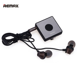 Wholesale Ear Clips Headphones - Headphones Remax RB-S3 3.5mm Clip Bluetooth Headset V4.1 EDR Wireless Earphones For Samsung Xiaomi MP3 MP4 Quality In-Line Control Stereo