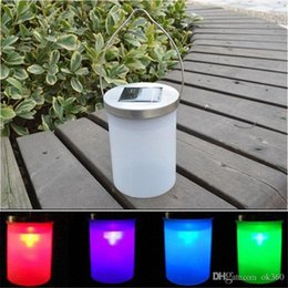 Wholesale Hanging Outdoor Christmas Decorations - Waterproof Solar Power Hanging Cylinder Lanterns LED Landscape Path Yard Garden Outdoor Patio Christmas decoration Light Lamp