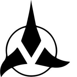 Wholesale Star Colors Glue - Animated Sci-fi War Star Klingon Empire Symbol Car Sticker SUV Truck Window Bumper Canoe Kayak Car Decor Vinyl Decal 10 Colors Jdm