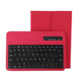 Wholesale Colorful Keyboard Tablet Covers - New Universal Bluetooth Keyboard Case For Apple iPad 7-10 inch Samsung S6 S7 Edge Colorful Tablet Leather PC Cover Holder Ultra Slim