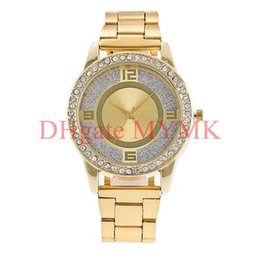 Wholesale Diamond Alloy Watch - New York Fashion watches Brand new quartz Diamond crystal wristwatches top luxury Famous retail replicas for men women Silver Gold Rose KM01