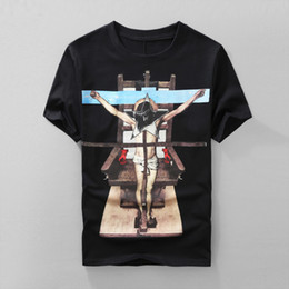 Wholesale T Shirt Couple New - Summer new arrival Western fashion brand Notre Dame printing Round neck Easy-matching Jesus couple cotton T-shirt