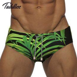 Wholesale Enhancing Pouch Mens Briefs - Taddlee Brand Europe Size Men Swimwear Sexy Mens Swim Brief Swimming Bikini Penis Pouch WJ Enhance Front Pocket Inside Swimsuits