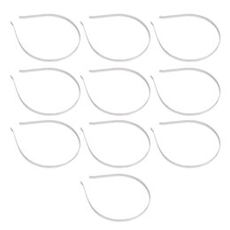Wholesale Blank Accessories - New Wholesale 10 pcs Blank Plain Metal Headband 4mm Hair Band For Hair Accessories DIY Craft