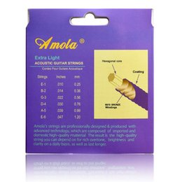 Wholesale Thin Acoustic Guitar - Wholesale- Free shipping a3100 010 011 012 A3200 A3300phosphor bronze strings of check on acoustic guitar with ultra thin coating
