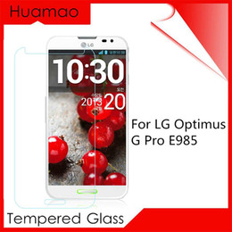 Wholesale Optimus G Pro Cover - Premium Version HD Tempered Glass Screen Protector For LG Optimus G PRO F240 E980 Protection Cover Protective Glas Film Sticker