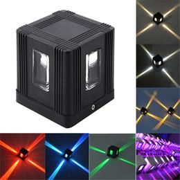 2019 kreuzbeleuchtung geführt LED-Querwand-Lampen-Portal-Licht AC85-265V 3W im Freien wasserdichte quadratische Aluminiumkörper-Oberfläche brachte LED-Licht an günstig kreuzbeleuchtung geführt