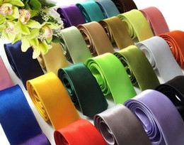 Wholesale Men Wholesale Neckties - 2016 New Mens Ties Skinny Solid Color Plain Satin Tie Necktie silk Tie black and white necktie silk jacquard woven Tie Neck Ties Men