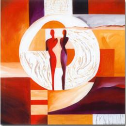 2019 kreis gemälde leinwand Alfred Gockel Gemälde Kreis der Liebe abstrakte Kunst Öl auf Leinwand handbemalt rabatt kreis gemälde leinwand