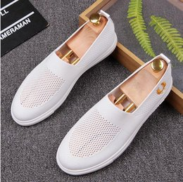 Wholesale Net Hard Drive - Top Quality Net surface Men's Casual Loafers Genuine Leather Comfortable Breathable Man Driving Moccasins Fashion Smoking Slippers Flats