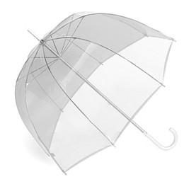 "Wholesale Clear Plastic Umbrellas Wholesale - 34"" Clear Umbrella Big Bubble Deep Dome Cute Gossip Girl Transparent Umbrellas Wind Resistance High Quality"