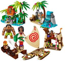 Wholesale Ocean Heart Sets - 515Pcs vaiana Moanas Ocean Voyage restore the heart of Te Fiti set Building Blocks Maui Toys