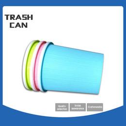Wholesale Desktop Trash Can - Candy Color Convenient Desktop Trash Can Creative Household Office Kitchen Living Room Bathroom Trash storage Plastic bucket