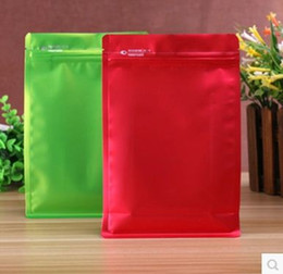 Wholesale Wholesale Aluminum Foil Bags - 50pcs 16*24cm zipper aluminum foil smell proof bag zip lock reseal package bag