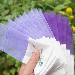 Wholesale Diy Organza Bags - Purple Cotton Organza Lavender Sachets DIY Dried Flower Sweet Bursa Wardrobe Mouldproof Fume Packing Gift Bag ZA4055
