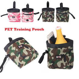 Wholesale Pet Dog Garbage - Hot Pet Training Pouch Camouflage pet training pockets Dog training waist Pouch Outdoor snack bag garbage bag DHL