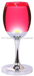 Wholesale Reading Christmas Lights - 2017 NEW Indoor Acrylic Warm White RGB Colorful LED Desk Table Light Reading Lamp with Wine Cup Shape Home Bar Christmas Birthday Gift MYY