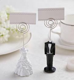 Wholesale Dress Wedding Card - Wedding dress skirt place card holder wedding theme resin material creative wedding decoration products New arrivel DT21