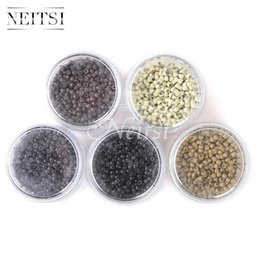 Wholesale Nano Ring Human Hair Extensions - New Arrival Neitsi 3.0mm * 1000Pcs Silicone Nano Ring Links Beads for Nano Ring Tip Human Hair Extensions