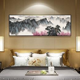 2019 китайская картина пейзажа Китайская живопись тушью HD напечатаны на холсте Гуйлинь пейзаж пейзаж стены искусства картина домашнего декора гостиной картины без рамы дешево китайская картина пейзажа
