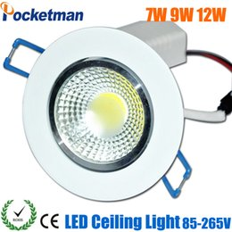 Wholesale Dimmable Led Downlight Housing - Wholesale- 2017 Newest Dimmable LED Downlight 7W 9W 12W 15W Spot LED DownLight Dimmable 220V LED Spot Recessed Downlight COB White house