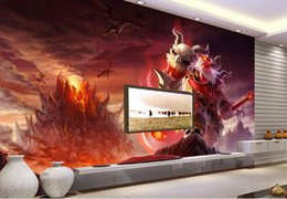 Wholesale Backdrop City - wall background wallpaper diamond Custom 3d wall mural wallpaper Internet cafes game city monster hand-painted animation backdrop wall